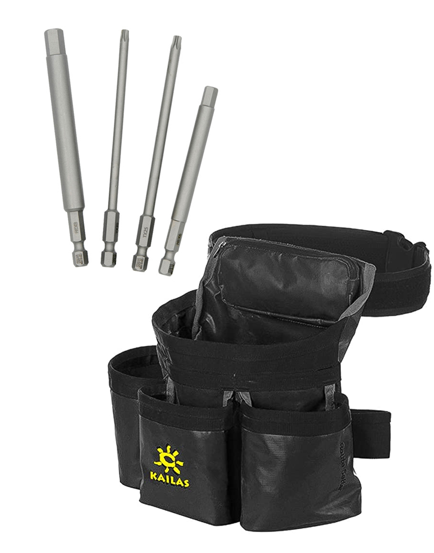 Kit de Cinturón de Route Setter Negro+ puntas de taladro